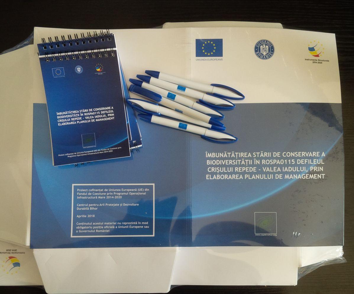 Materiale promotionale pentru activitatile de constientizare